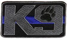 Police Department K9 K-9 Unit Thin Blue Line Patch (3.5 x 2.0)
