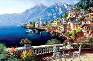 300 Pcs Kid Adult Puzzle Seaside Small Town Scene Jigsaw Educational Toys Gift