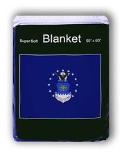 Air Force Flag Fleece Blanket *NEW* 5 ft x 4.2 ft Soft Throw Cover USAF One NASA