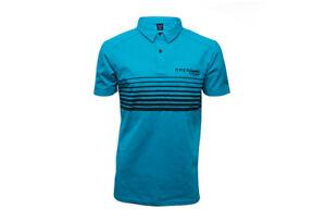 Drennan Match Fishing Clothing Range - Aqua Lines Polo Shirt - All Sizes
