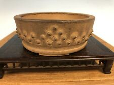 Shohin Size Drum Style Handmade Bonsai Tree Pot By Syuzan 4 5/8""