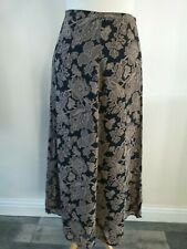 LAURA ASHLEY SIZE 8 BLACK & BROWN MIX PATTERNED SKIRT