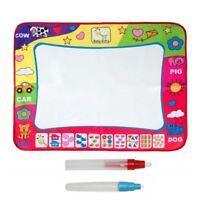 🔥 Kids Doodle Mat Water Aqua Painting Drawing Large Writing Board Magic Pen Toy