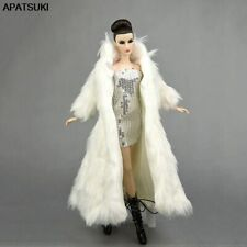 Doll Accessories Fashion Clothes Set For 11.5in Doll White Coat & Silver Dress