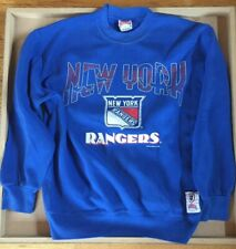 Vintage MENS L New York Rangers NHL Hockey Club Sweatshirt Blue  Nutmeg