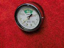 Benzindruck Anzeiger Manometer  80 PSI = 5,5 Bar
