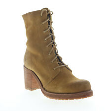 Frye Karen Combat 70862 Womens Brown Suede Lace Up Casual Dress Boots 8