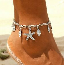 Chain Beach Jewellery Gift Ladies Starfish Shell Ankle Bracelet Anklet Foot