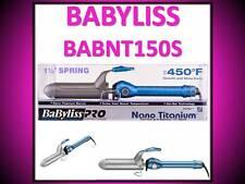 "BABYLISS PRO NANO TITANIUM 450° TURBO HEAT SOL-GEL 1 1/2"" SPRING CURLING IRON"