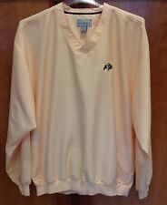 Mens Cutter & Buck Golf Pullover Yellow V Neck Windbreaker Colorado Buffs Sz XL
