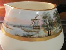 Limoges Wine or Cider Pitcher, 120 Years Old, Hand Painted