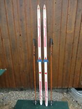 """GREAT Ready to Use Cross Country 78"""" Long BENNER 601 200 cm Skis + Poles"""