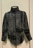 Adidas Women's ZNE Active Wear Full Zip Running Jacket Size Medium Gray Black