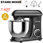 Electirc Food Stand Mixer 7.4QT 6 Speed Kitchen Mix Beater Tilt-Head Food Mixer