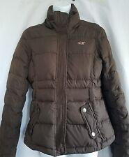 Hollister Juniors Dark Brown Down Filled Puffer  Ski Jacket Size Large Full Zip