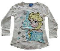 Disney Frozen Langarm Shirt Anna und Elsa weiß Gr. 128