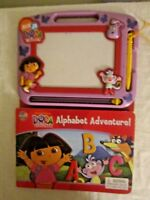 Dora the Explorer Alphabet Adventure Board Book with Dry Erase Board Nick Jr. 3+