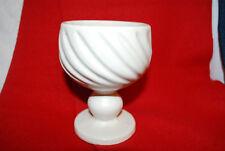 Hull Pottery USA F5 Goblet WHITE