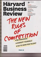 HARVARD BUSINESS REVIEW MAGAZINE OCTOBER 2015, THE NEW RULE OF COMPETITION.