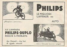Z0583 Lampada per auto Philips Duplo - Pubblicità del 1930 - Advertising