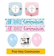 9ft Long New Girl/'s 1st Holy Communion Extra Wide Holographic Foil Banner