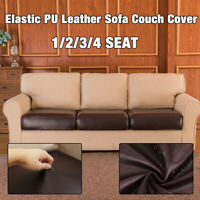 1-4 Waterproof Stretchy PU Sofa Seat Cushion Cover Couch Slipcovers Protector