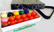"""BRAND NEW Snooker Balls 2"""" inch 10 Red Set and Triangle Birthday Gift SET SALE"""