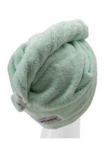 Turbie Twist Towel Original 100% COTTON ONE Hair Towel Green Color New In Bag
