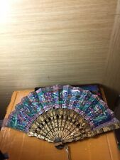 Antique Chinese Fan And Box