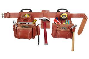 CLC Custom Leathercraft 21448 15 Pocket, 4 Piece Pro Framers Combo System Belt