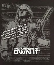 THE  2ND SECOND AMENDMENT OWN IT-THOMAS JEFFERSON-OL' TIME GUN SHOP FL T-SHIRT-M