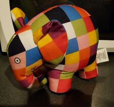 "7"" Elmer El Elefante Suave Juguete Rainbow Designs Patchwork"