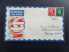 First Flight Air Mail Jersey to Guernsey 22/05/1939