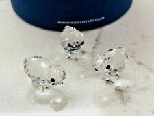 Swarovski Crystal Miniature Chickens Figurines (Set of 3) #14824 w/Box Gorgeous!