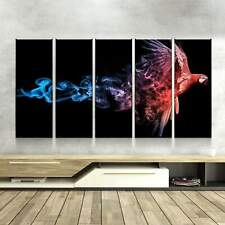 Abstract Macaw Canvas Set