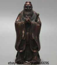 China Confucianism Bronze Copper Great Confucius Kong Zi Kongzi Statue Sculpture