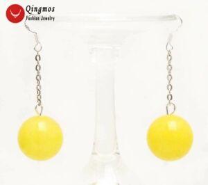 Yellow Jade Knot Earrings