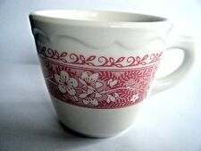 Syracuse China Coffee Cup Red Floral On Cream Background Pattern SY463 USA
