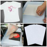 10x/Set T-Shirt Print Iron-on Heat Press Light/Dark Fabric Inkjet Transfer Paper