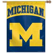"""Michigan Wolverines 28""""X40"""" Banner Flag New Free Shipping Wincraft"""