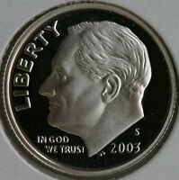 2003 S Silver Proof Roosevelt Dime Ten-Cent Coin 10c from US Mint Proof Set