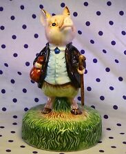 Beatrix Potter Pigling Bland PIG Figurine Music Box Topper KING OF THE ROAD