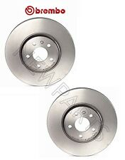 Pair Set of 2 Front Disc Brake Rotors Brembo 09A75811 For Audi A4 A5 Quattro Q5