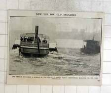 1909 Edmund Ironsides, Old Council Steamer Taking Bermondsey Electors To Poll