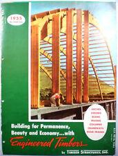 Vtg Timber Structures RETRO Catalog Glue Laminated Arches Engineered Lumber 1955