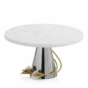 Michael Aram Calla Lily Cake Stand New in box ! Msrp $275 White  Marble