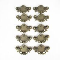 "Vintage Brass Drop Bail Dresser Drawer Pull Handles Lot of 10 KBC Keeler 3"" Ctrs"