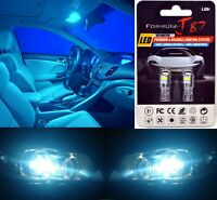 LED 3030 Light Icy Blue 8000K 168 Two Bulbs License Plate Tag Replace Lamp Show