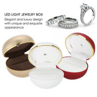 Jewelry Display Case LED Light Paint Ring Box for Proposal Engagement Wedding