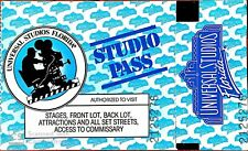 Vintage Universal Studios Studio Pass (still valid from the year 1990) 1 day pas